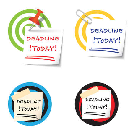 targets: Four targets and and the words deadline today