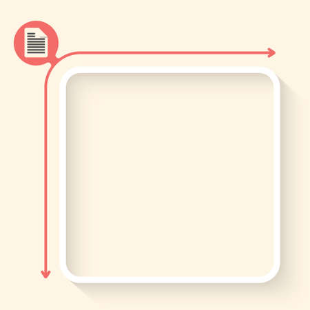 fill: White box to fill your text and document symbo? Illustration