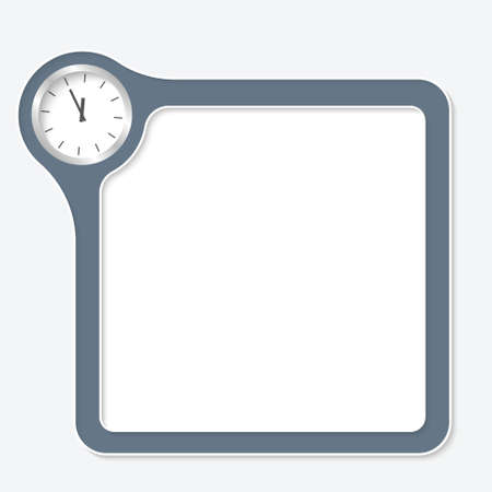 corner clock: Vector frame for your text and watches