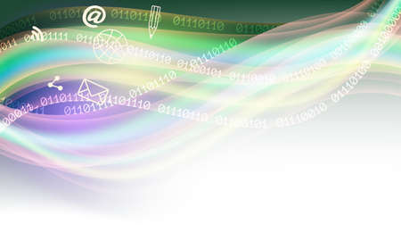 algorithms: Vector colored abstract background and binary code Illustration