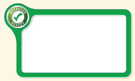 fill fill in: Vector frame for your text and check box Illustration