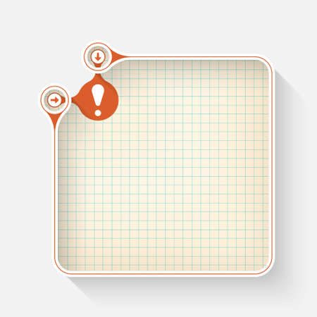 fill fill in: A white box for your text and exclamation mark Illustration