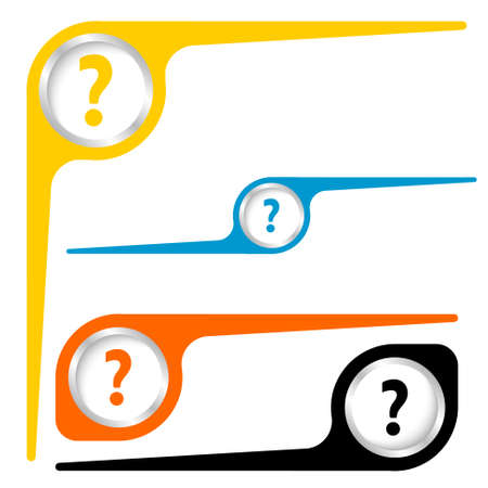 three objects: Set of three objects and question mark Illustration
