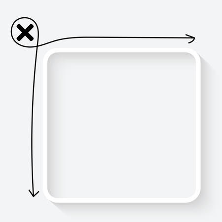 multiplication: A white text box and multiplication symbol Illustration