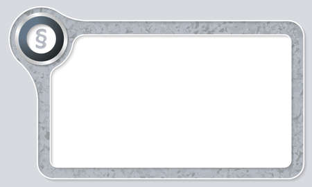 jury box: Vector frame for your text with marble pattern and paragraph
