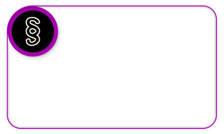 jury box: Purple frame for your text and paragraph symbol