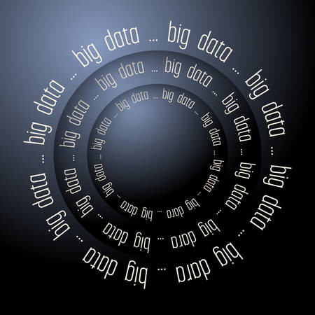 algorithms: Colored vector abstract background and the words big data