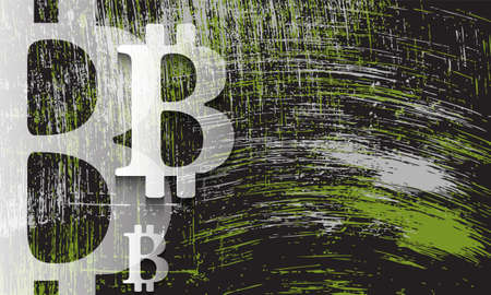 remark: Scratched background and transparent bit coin symbol