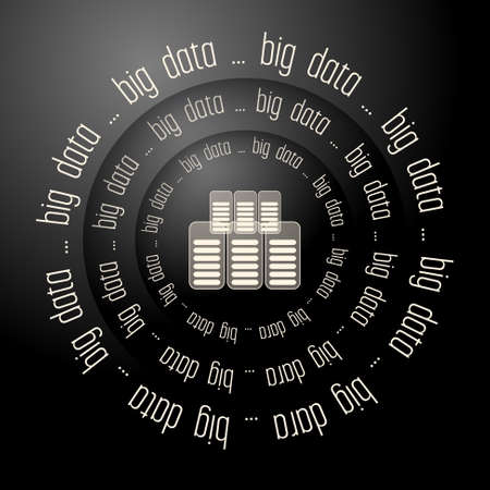 Black vector abstract background and the words big data