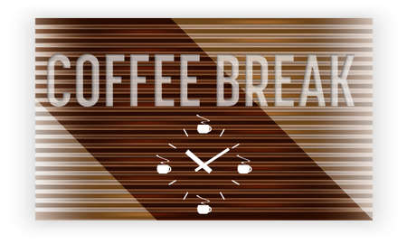intermission: Abstract background with theme of coffee break and watches