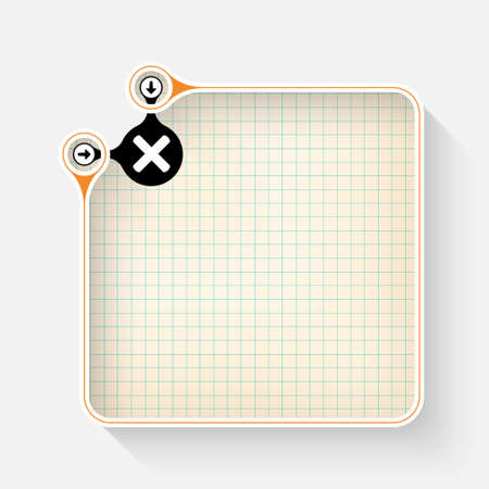 multiplication: A white box for your text with graph paper and multiplication symbol Illustration