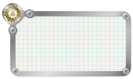 Metal Frame For Your Text With Graph Paper And Workshop Icon Royalty ...