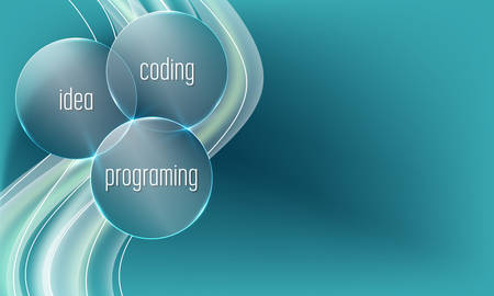 Vector abstract background with the words idea, coding, programing