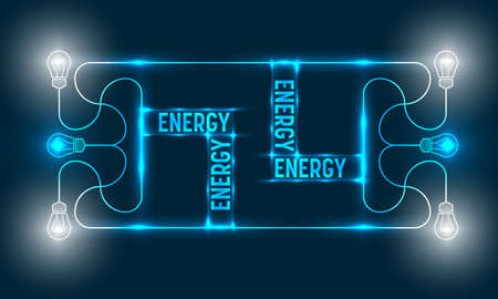 ecologically: Abstract vector frame and the words energy Illustration