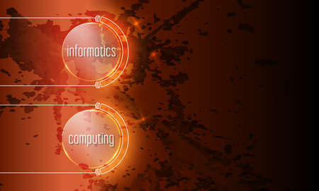 Abstract background with the words informatics, computing