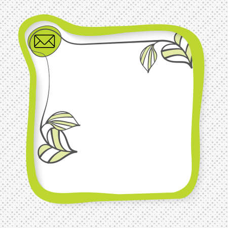 sprig: Green frame for your text and envelope