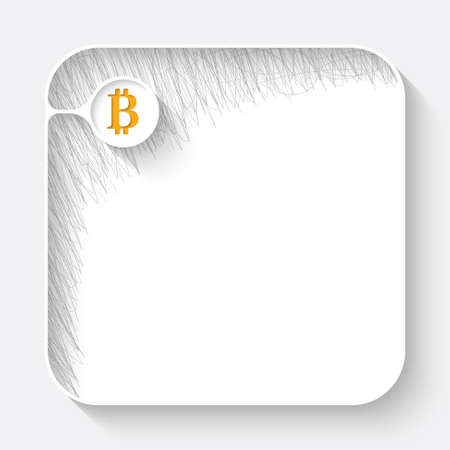 deposite: A white text box with hand written shadow and bit coin symbol