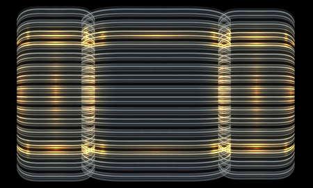 Vector futuristic vector backdrop and golden lines