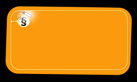 Vector orange frame and paragraph mark with lighting