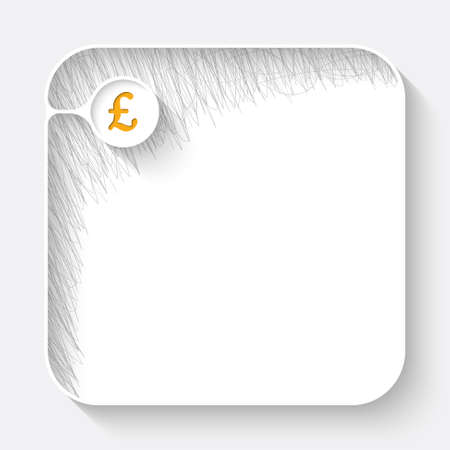 deposite: A white text box with hand written shadow and pound sterling symbol