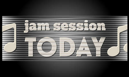 Abstract vector banner and the words jam session