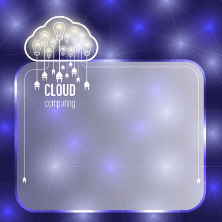 Transparent text box with theme of cloud computing