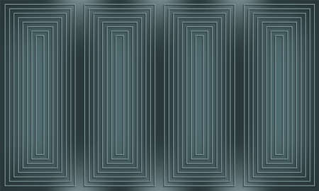 Dark geometric background with joined lines and rectangles Illustration