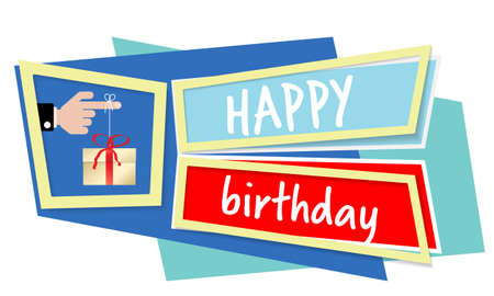 Vector abstract object with topic of happy birthday. Vector concept for  printed materials, website, promotional materials.
