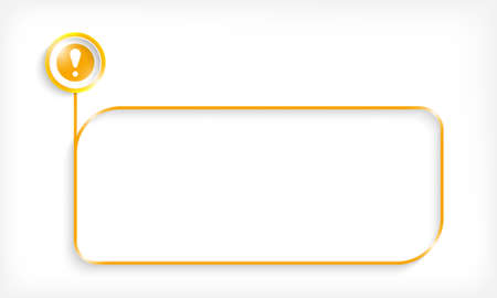 Yellow text frame for your text and exclamation mark. Vettoriali