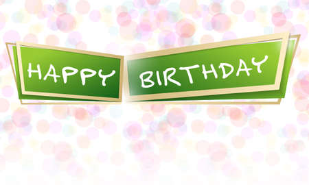 Vector design for greeting card to the happy birthday