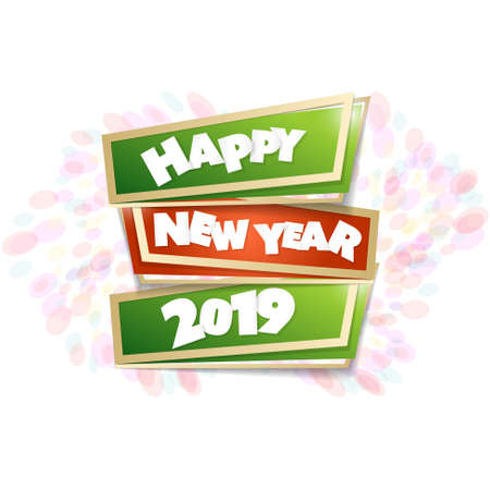 Vector design for greeting card to the new year