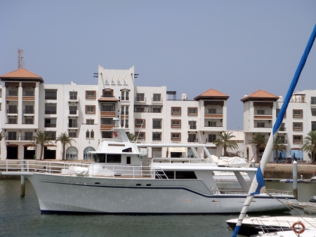 Yacht at berth photo