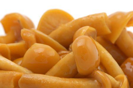 series object on white - food  - pickled mushrooms  Banco de Imagens