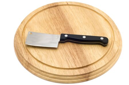 object on white - kitchen utensil - kitchen knife for cheese Stock Photo - 2308639