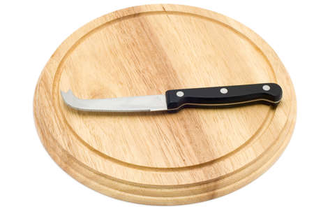 object on white - kitchen utensil - kitchen knife for cheese Stock Photo - 2308643