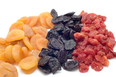 object on white food dried fruits Stock Photo - 2506208