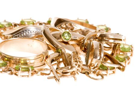 object on white - Rings and ear-rings Stock Photo - 3483825