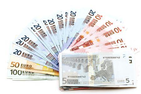 object on white - European bank paper Stock Photo