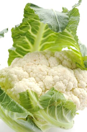 object on white - raw food cauliflower