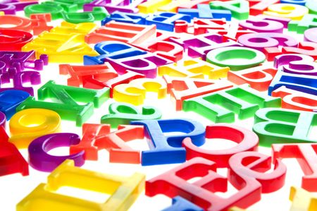 object on white - toy plastic letters and numbers Stock Photo - 6593259