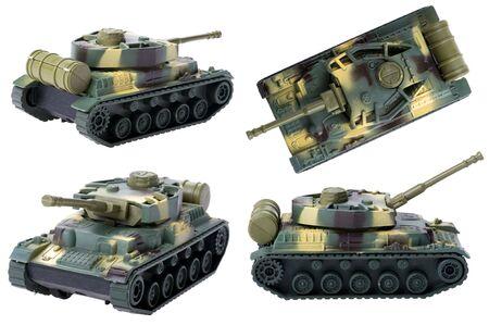 Objekt auf White - Toy-Tank close up Standard-Bild - 7664921