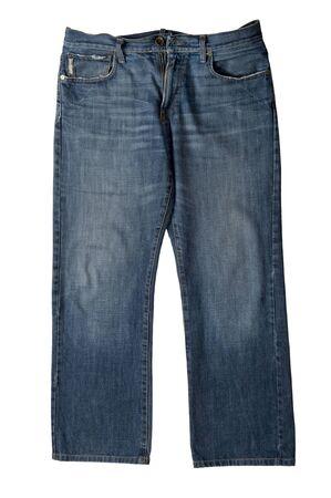 Objekt auf weiß - Kleidung, Jeans up close Standard-Bild - 8276576