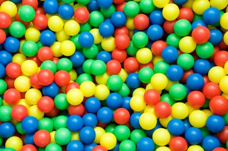 object on white - color balls close up Stock Photo - 8897192