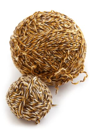 object on white - sewing Yarn close up Stock Photo - 8897679