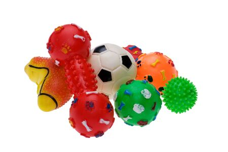 Objekt auf weiß - Kunststoff-Spielzeug für Hund Standard-Bild - 9058044