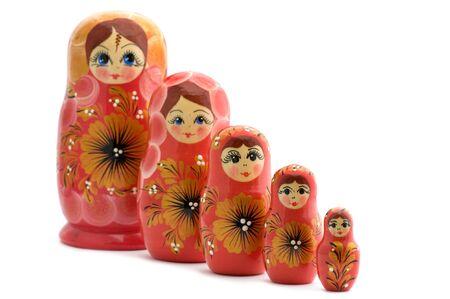 Objekt auf weiß - Spielzeug hölzerne Puppe matrioshka Standard-Bild - 9466912