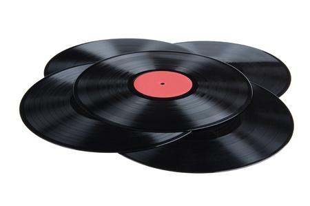 Objekt auf weiß - schwarzen Vinyl-LP Standard-Bild - 10013212