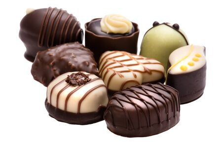 object on white - food chocolate candy Stock Photo