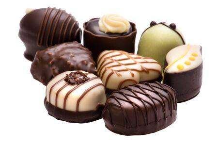 object on white - food chocolate candy Standard-Bild