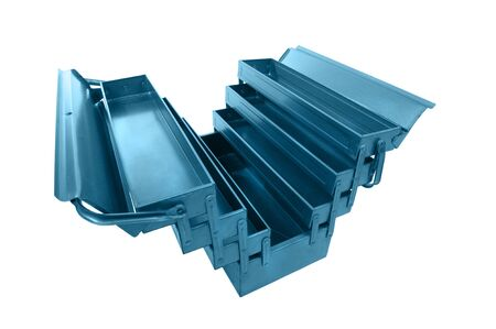object on white - metal tool box Stock Photo - 12848168